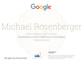 Google Online Marketing Grundlagen